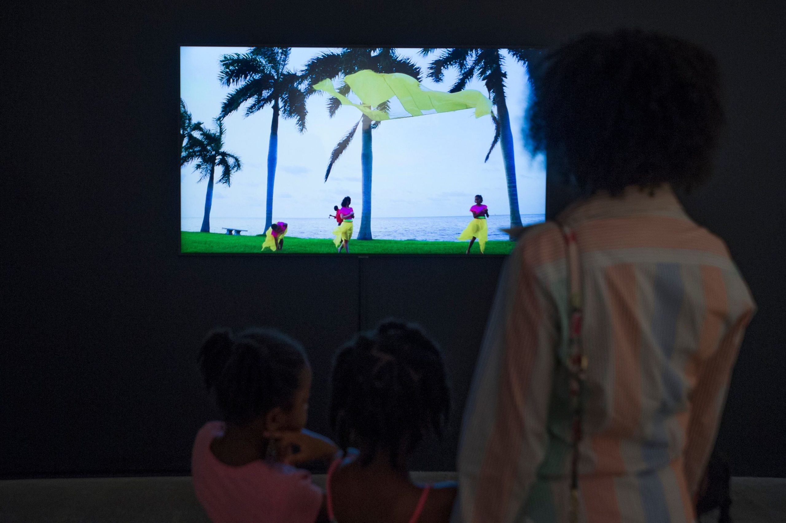 Installation view of video by Felecia Chizuko Carlisle at MOCA Nomi