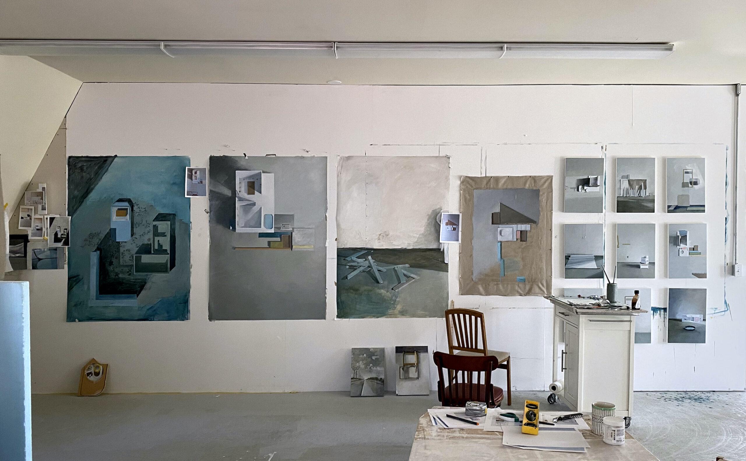 Jenny Brillhart, Studio Wall (Studio Photo), 2021