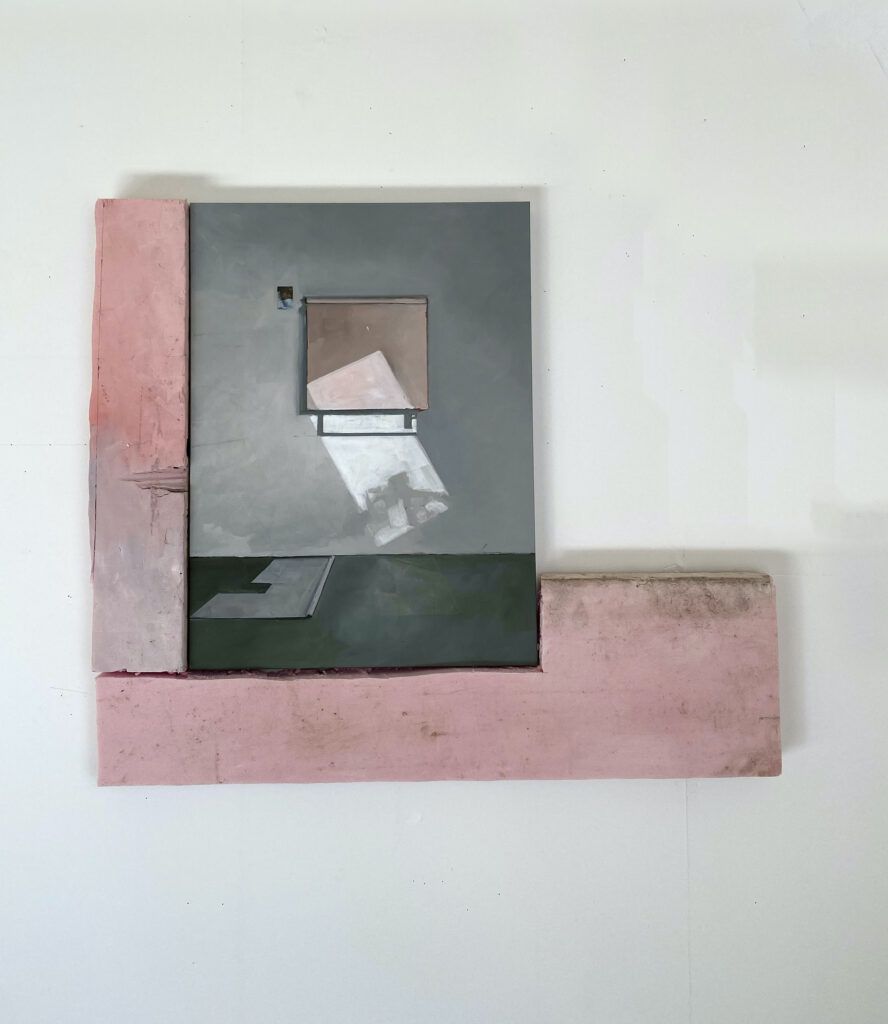 Jenny Brillhart, Warm Frame and Two Shades, 2021