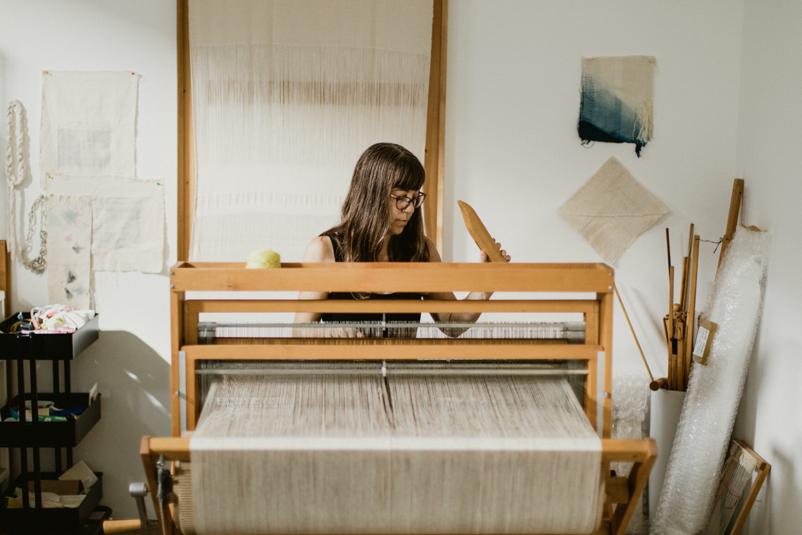 Frances Trombly in the studio. Photo by Zura Lagarde