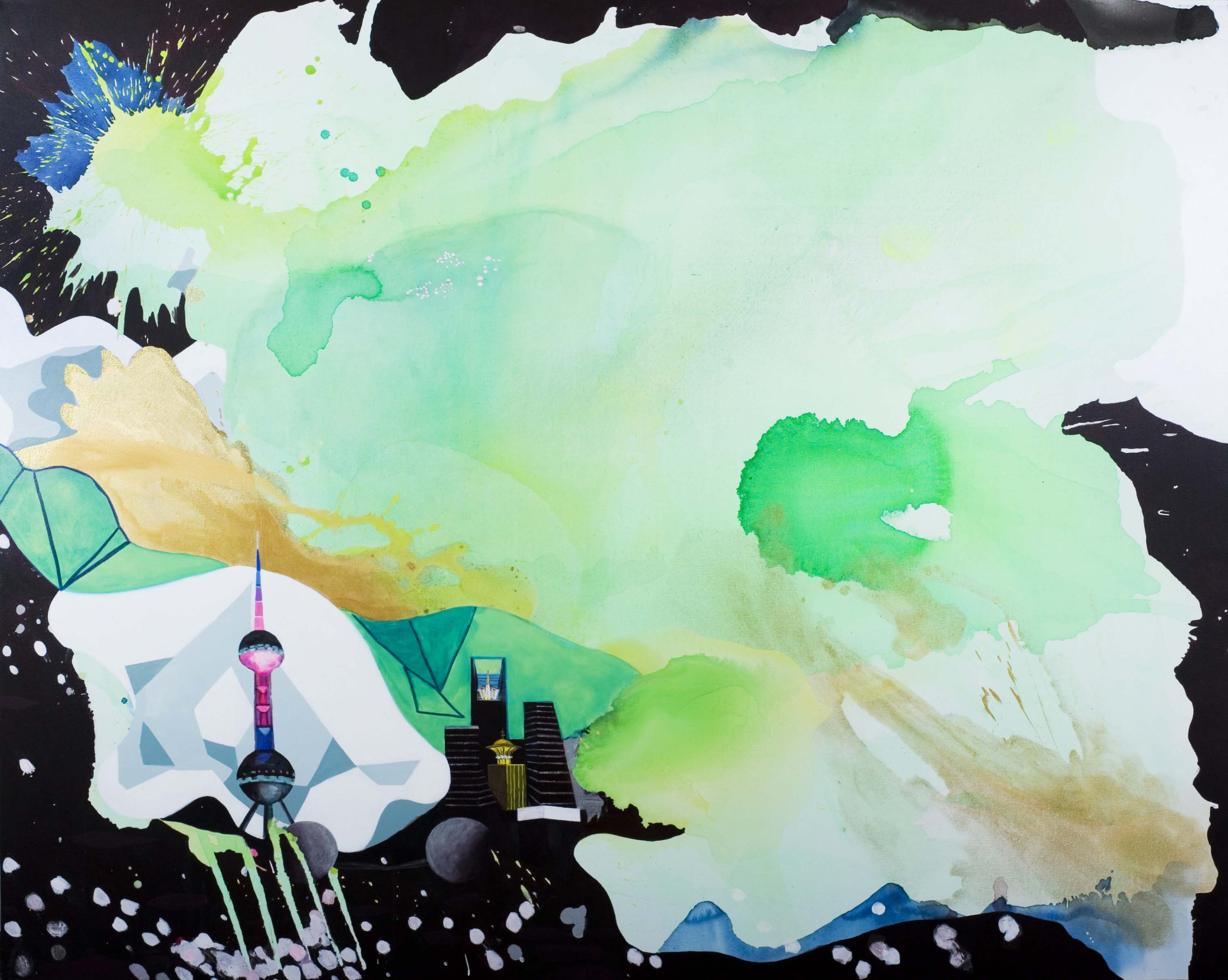 Elisabeth Condon made a series of paintings in Shanghai while artist in residence at Swatch Peace Art Hotel.