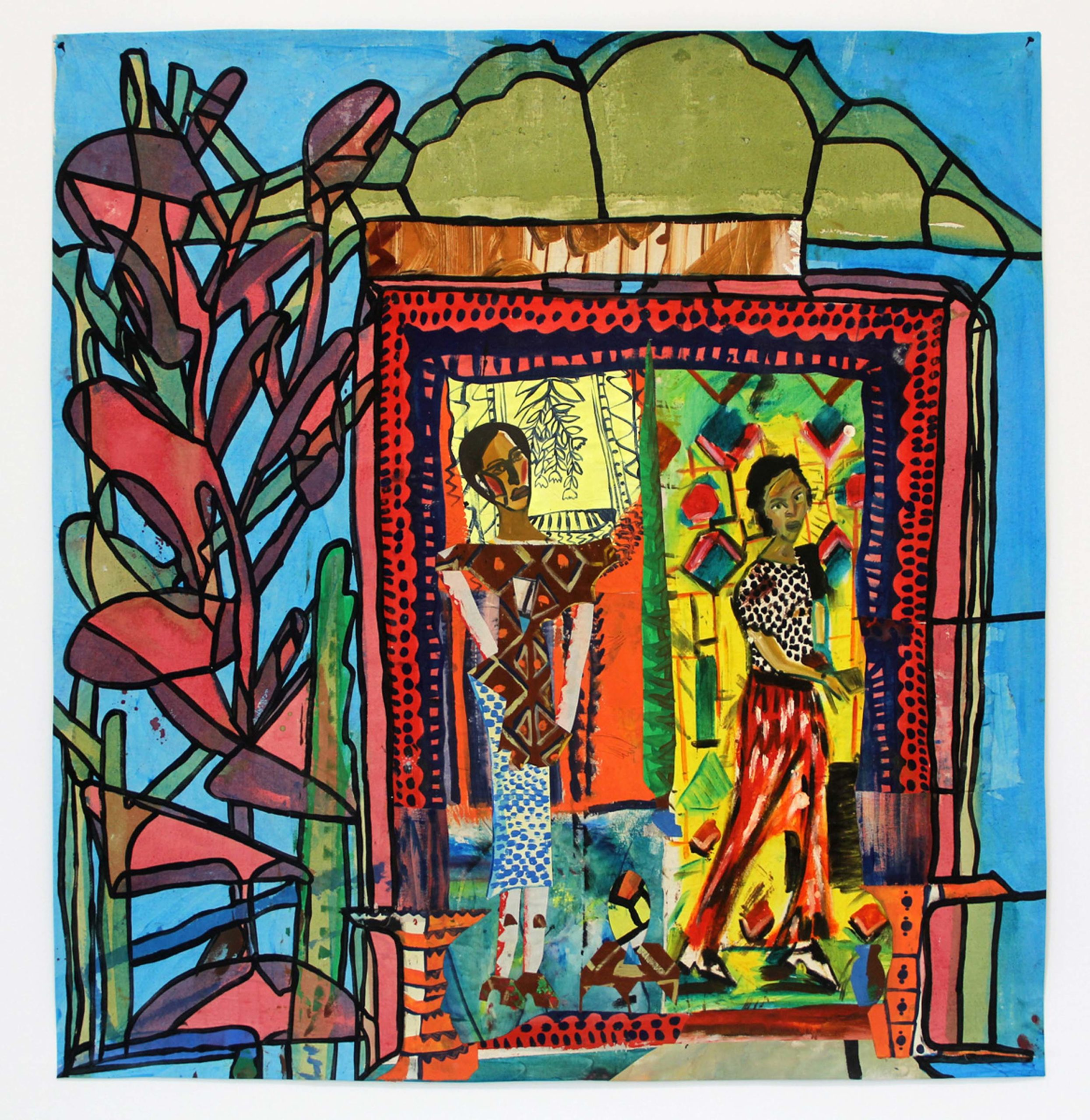 Paula Wilson, Entry to the Stain Glass Row, 2017