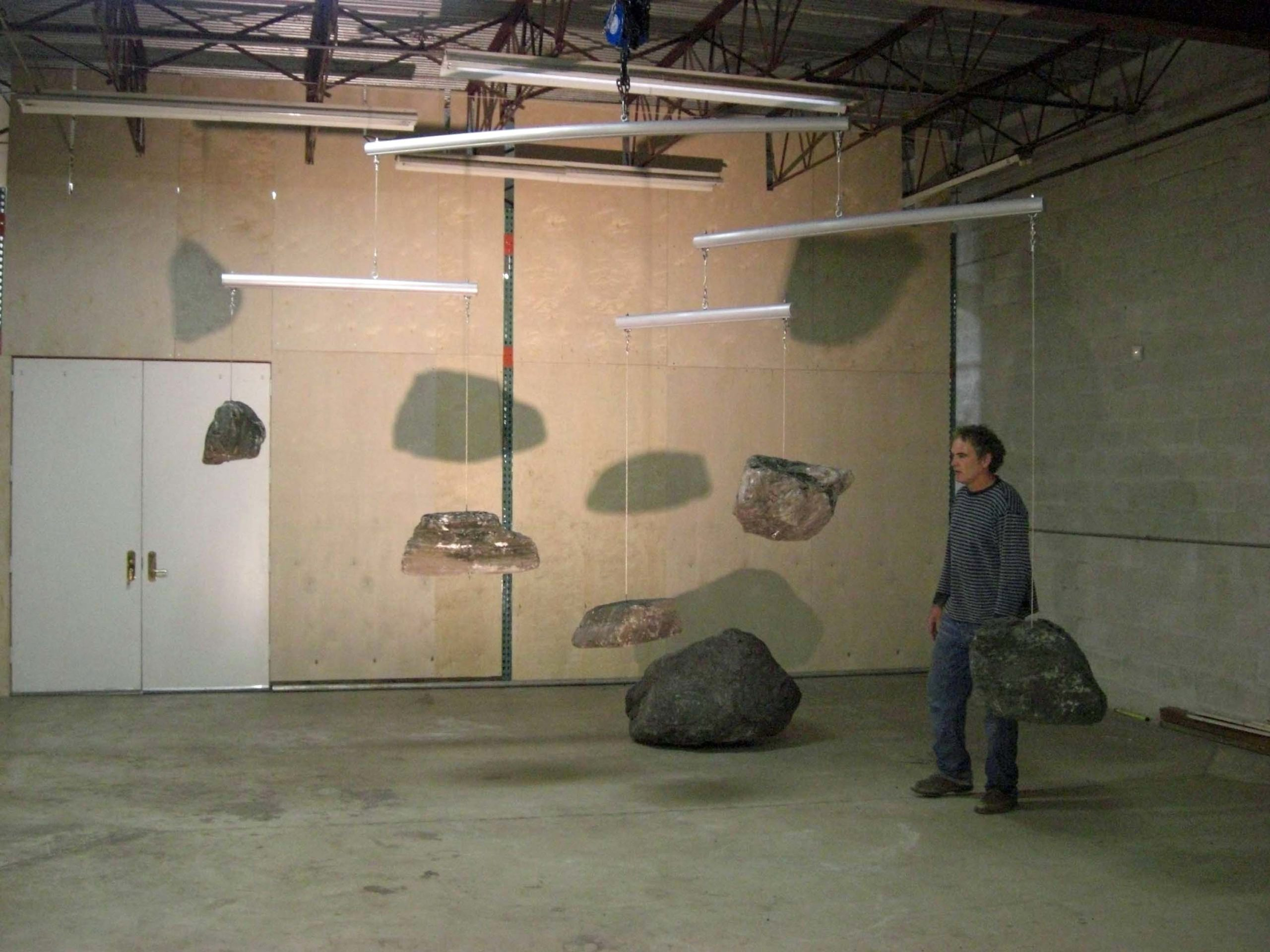 Robert Chambers with Ryoanji mobile installation.