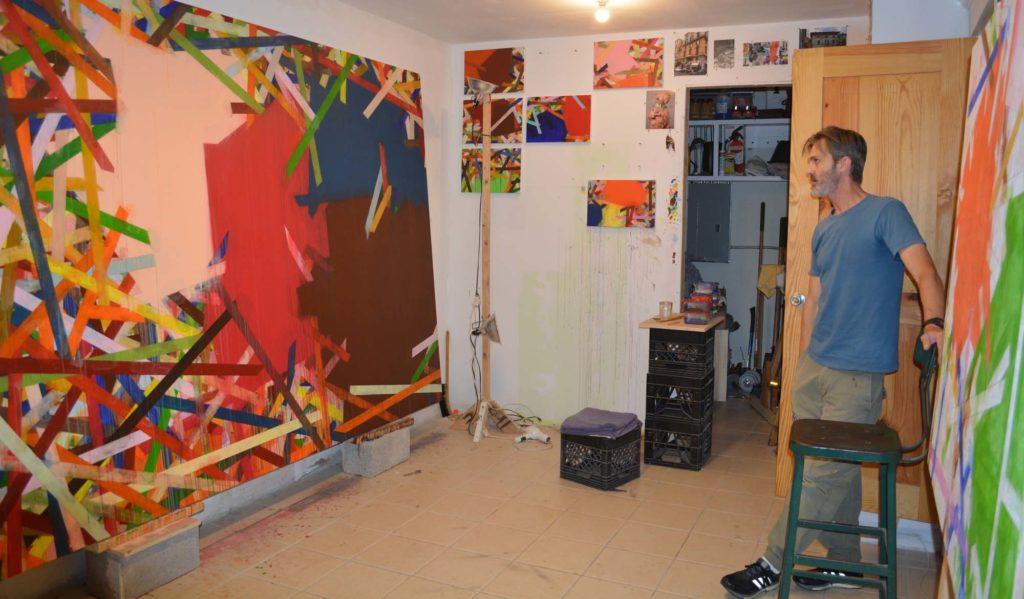 Chris Byrd in his studio