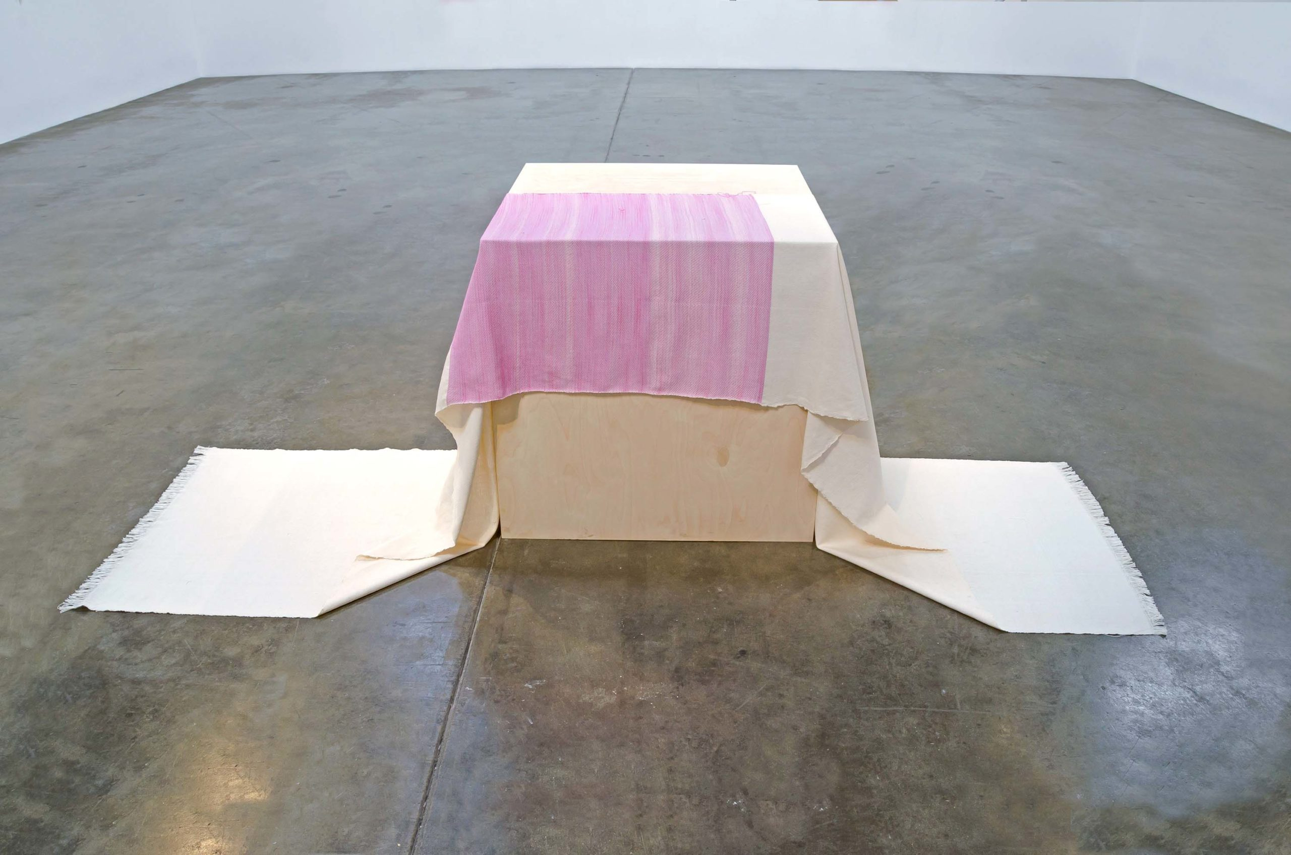 Frances Trombly, Draped Wood Pedestal, 2016