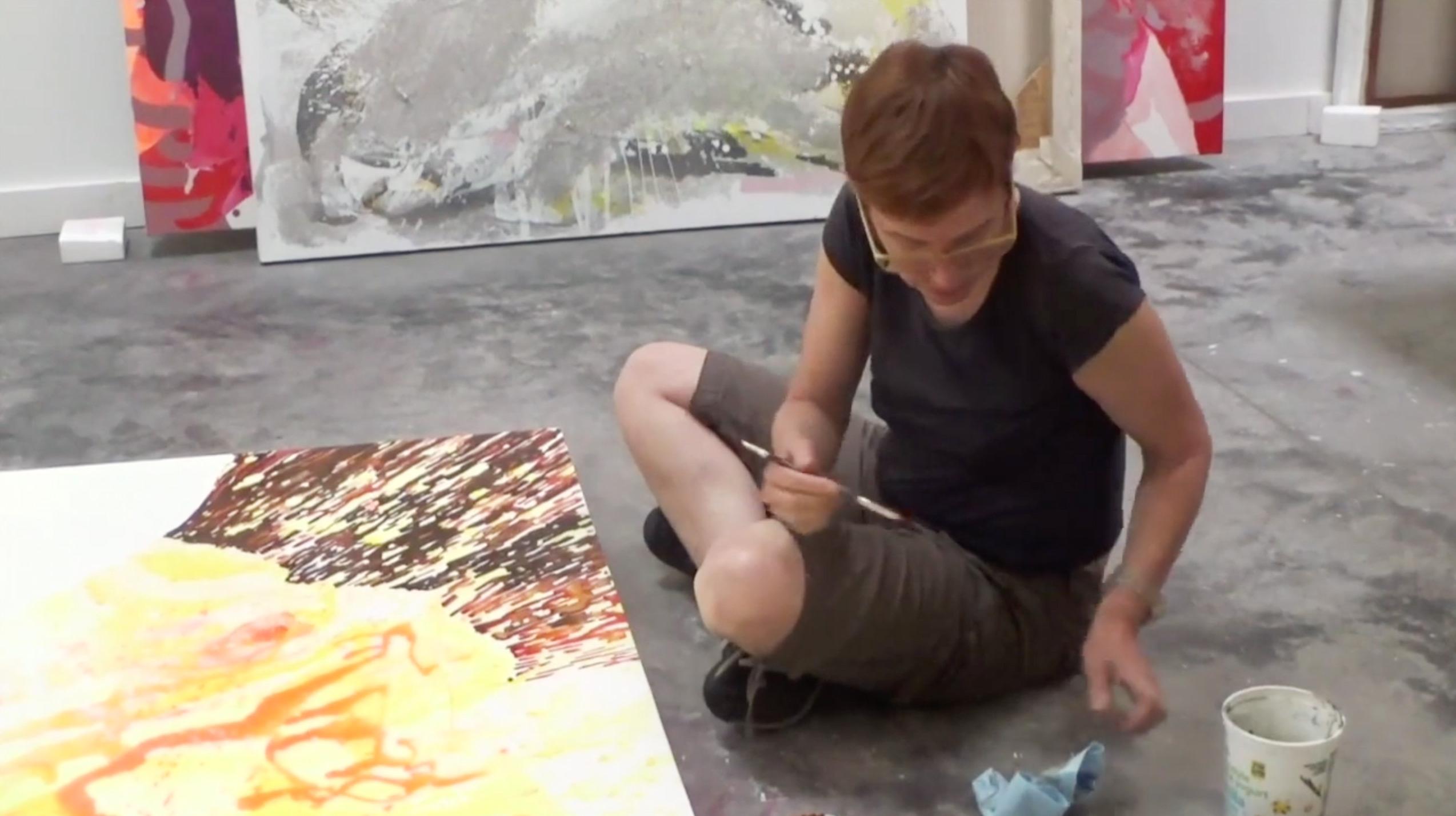 Elisabeth Condon in the studio