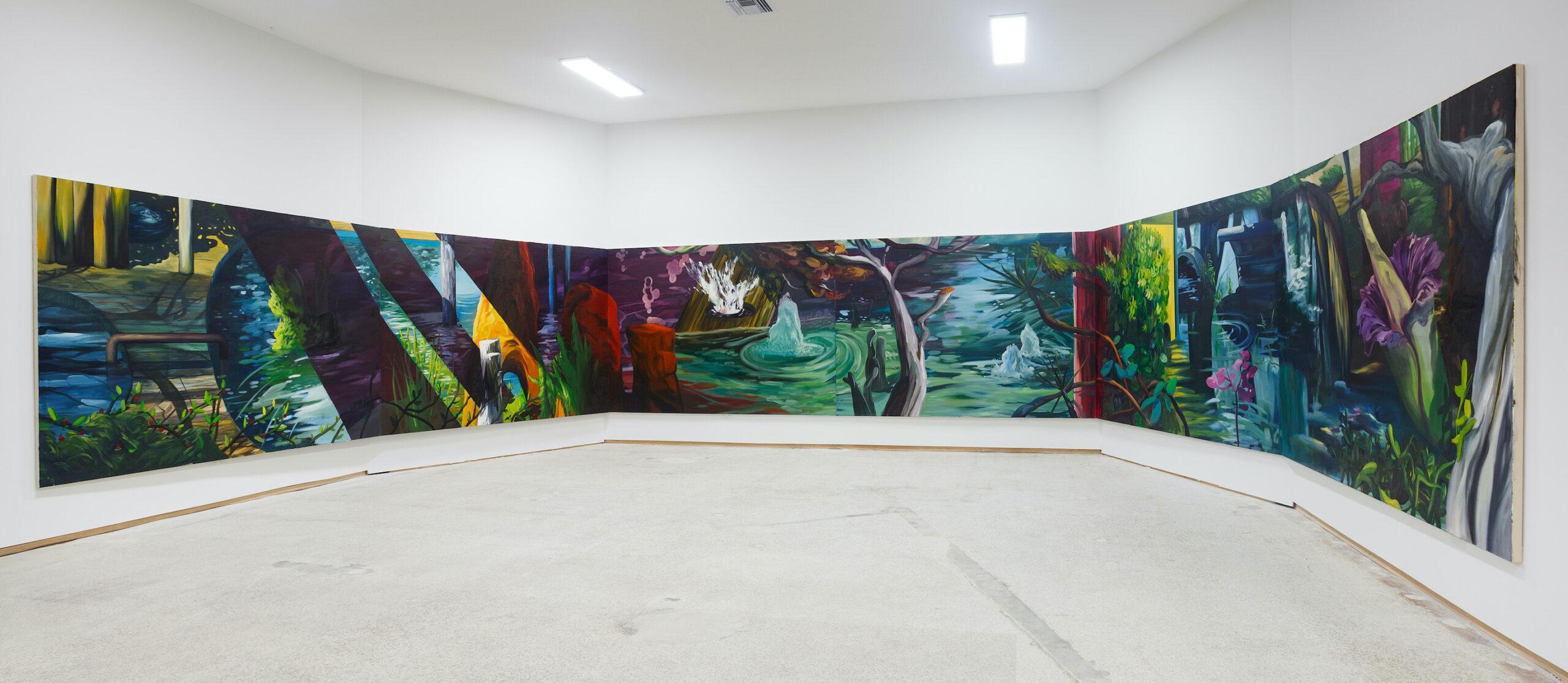 Ernesto Gutiérrez Moya, The Enigma of an Evening in Autumn (installation view), 2021