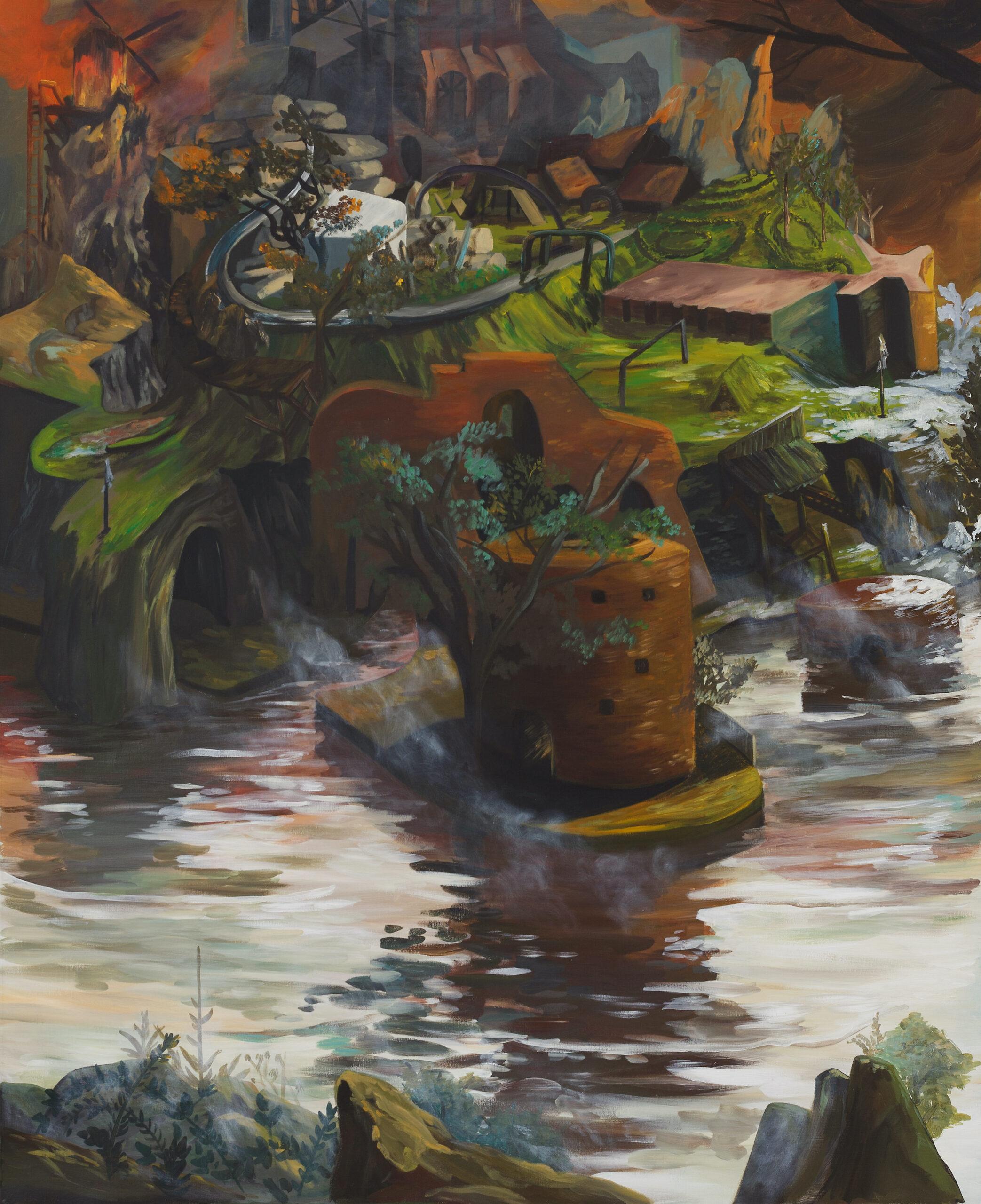 Ernesto Gutierrez Moya, I Found the Island (Panel 2 of 3), 2021