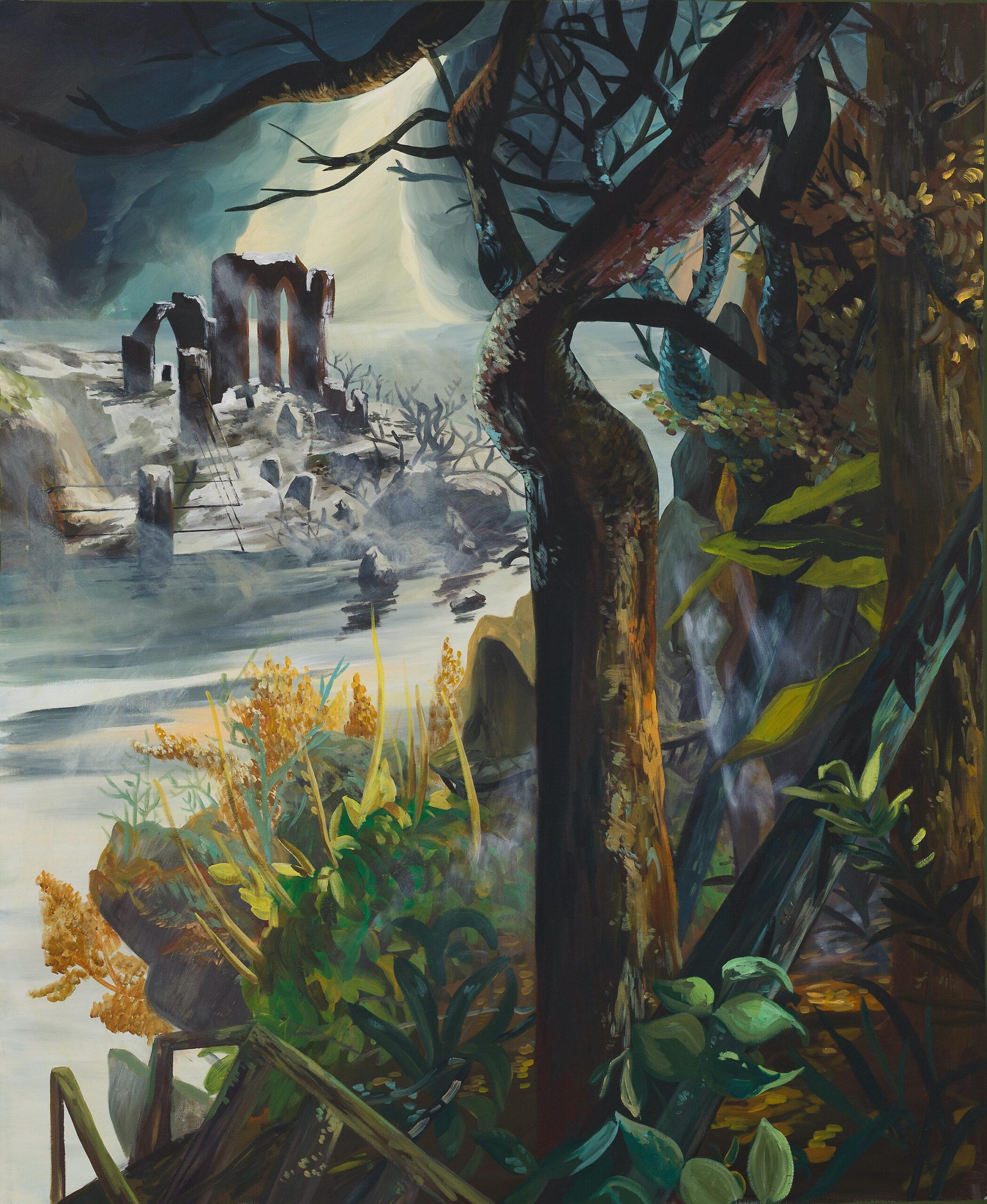 Ernesto Gutierrez Moya, I Found the Island (Panel 3 of 3), 2021