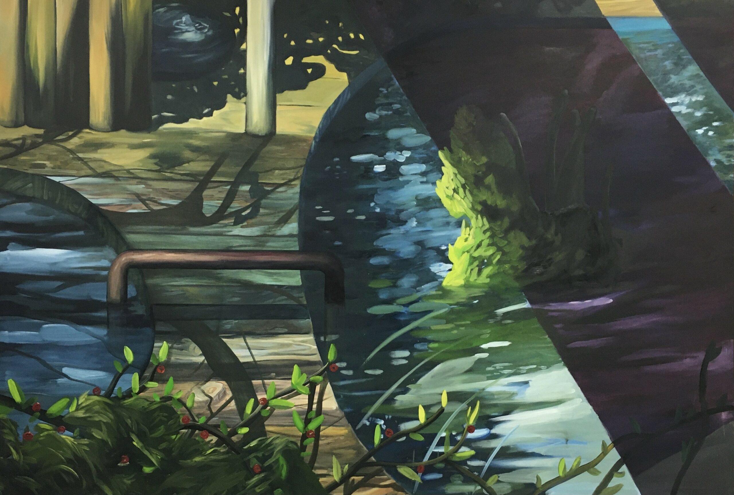 Ernesto Gutierrez Moya, The Pond (panel 1 of 6), 2020