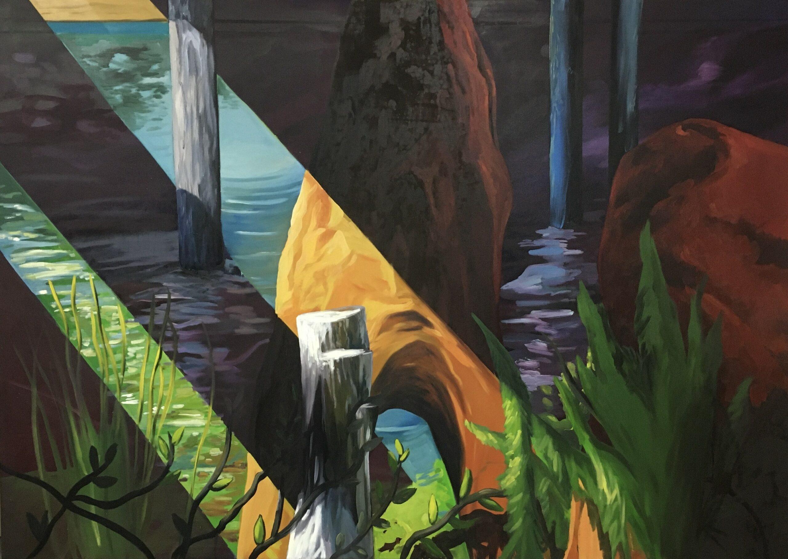 Ernesto Gutierrez Moya, The Pond (panel 2 of 6), 2020