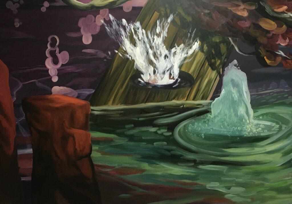 Ernesto Gutierrez Moya, The Pond (panel 3 of 6), 2020