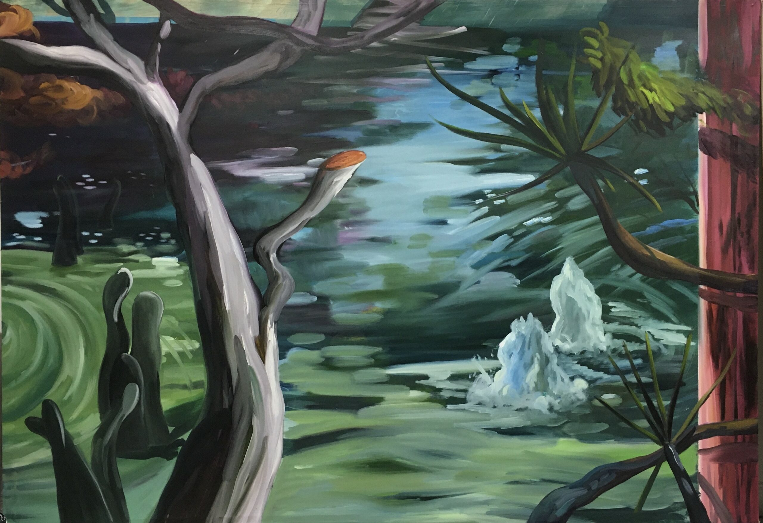 Ernesto Gutierrez Moya, The Pond (panel 4 of 6), 2020