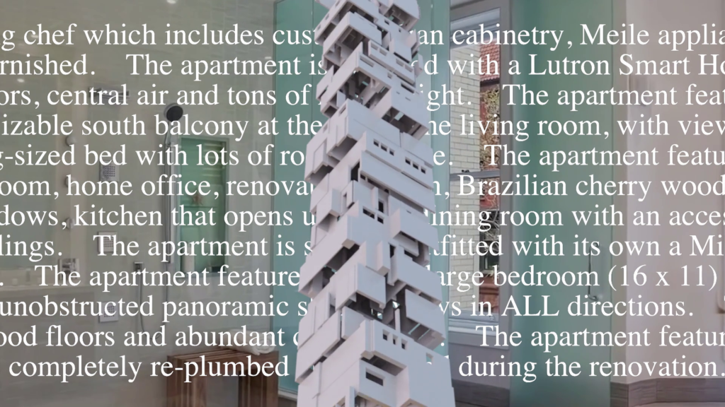 Sam Lavigne: New York Apartment, 2020
