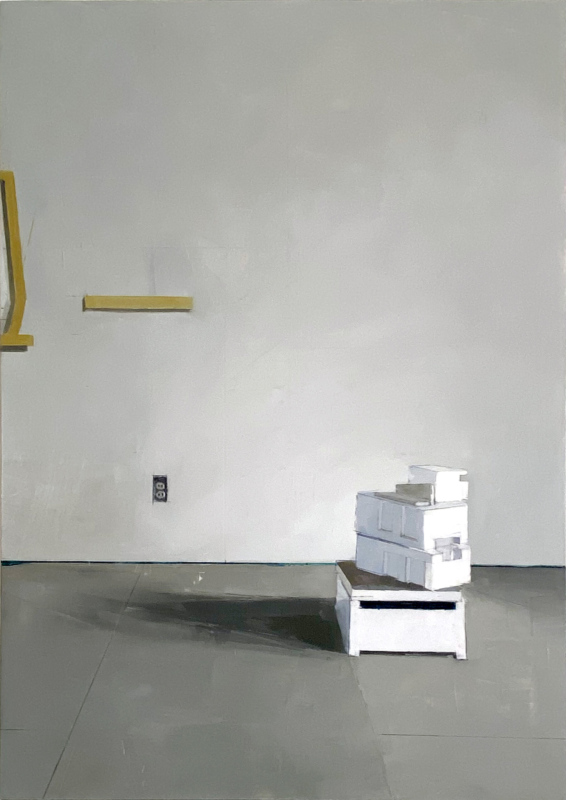 Jenny Brillhart, Off-center Stack, 2021