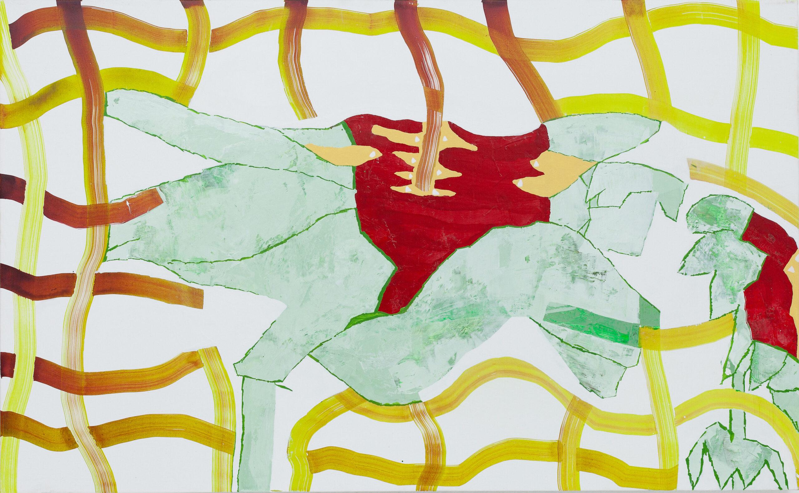 Elisabeth Condon, Pierced Red Flower, 2020