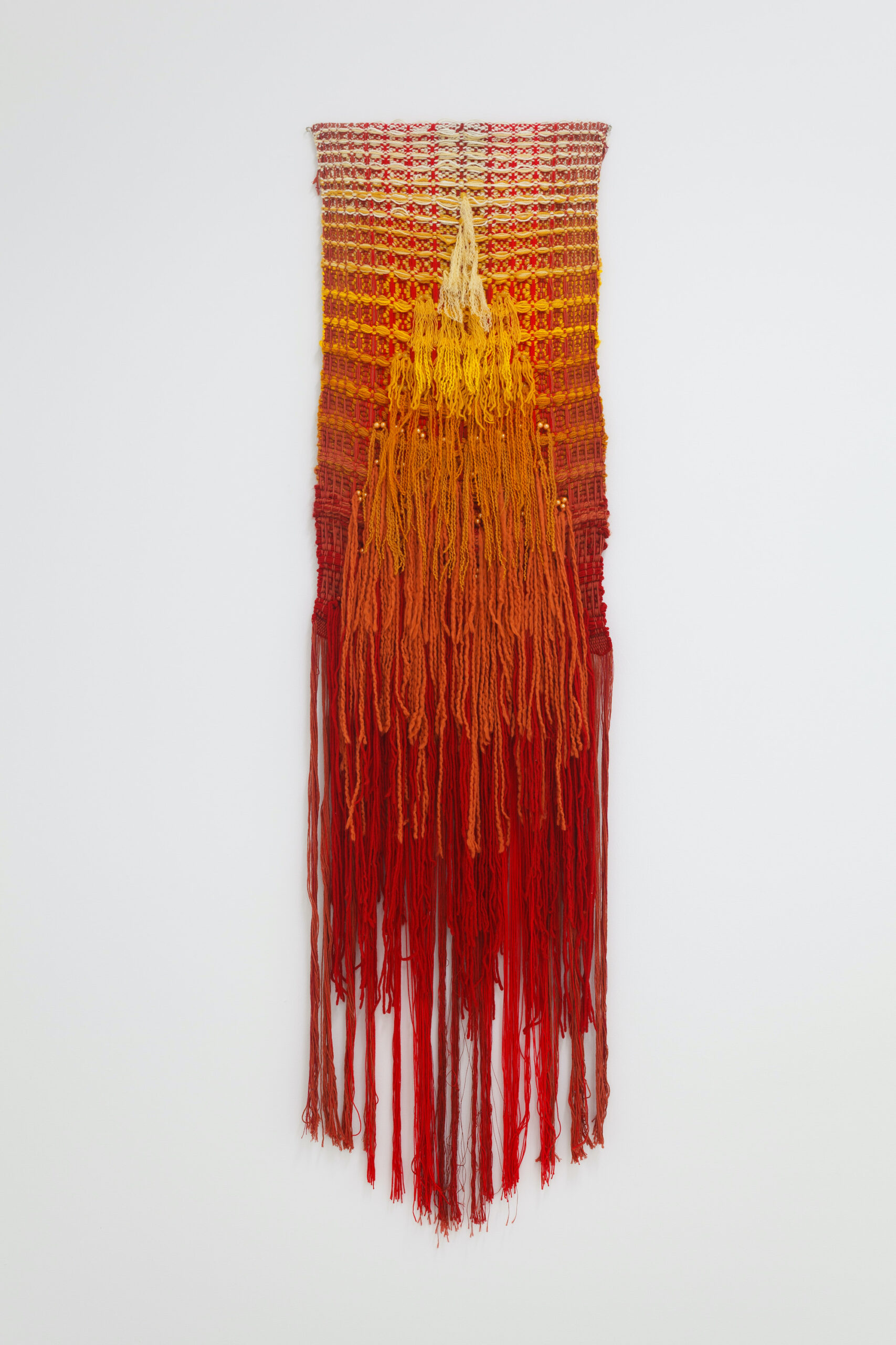 Katrina Coombs, Her Constellation, 2020, Hand woven mixed natural fibers and beads, 18 x 20 inches, Emerson Dorsch, Miami FL (1)