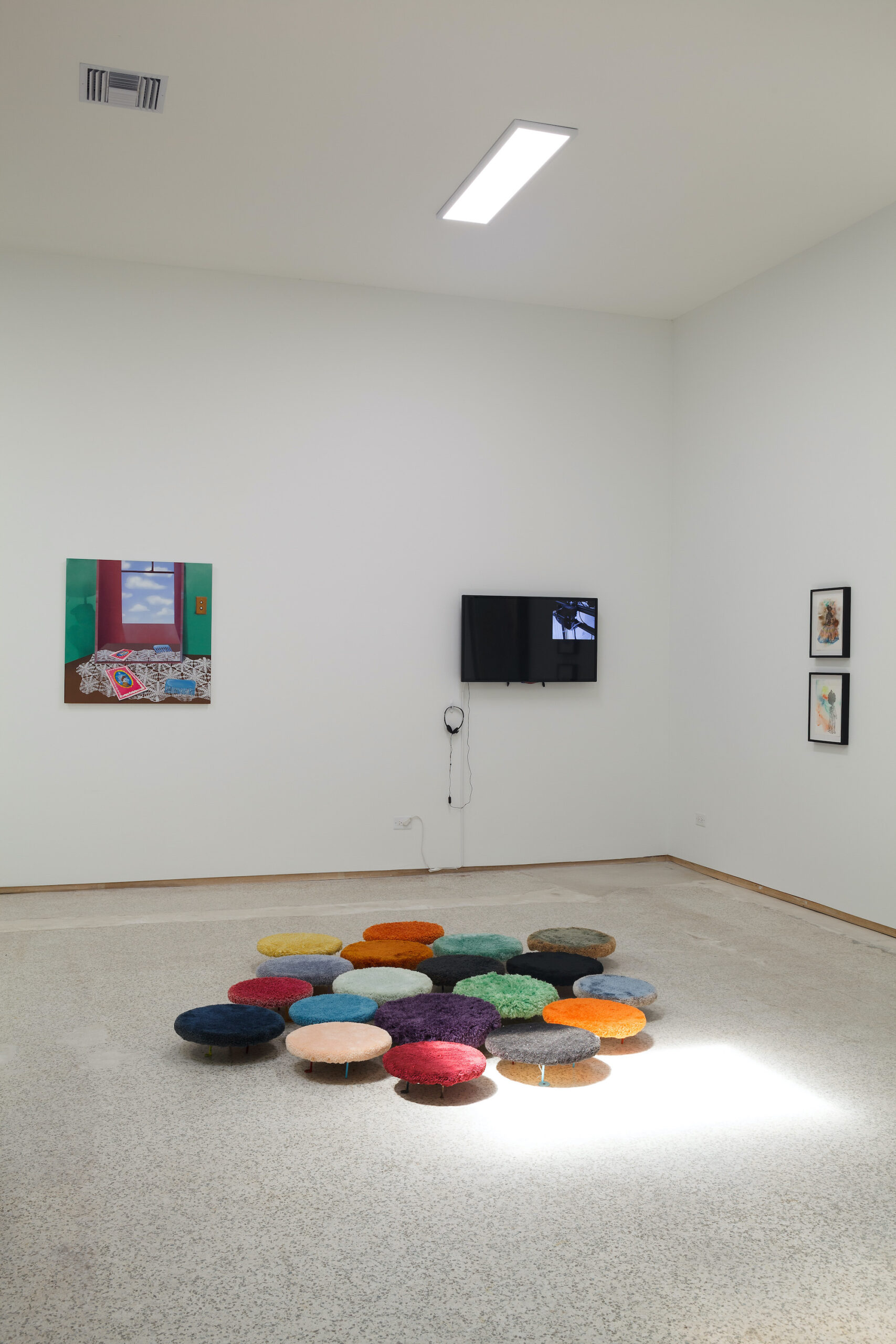 our constellations: astral embraces and tactual consciousness (Installation view b), 2021, Emerson Dorsch, Miami FL