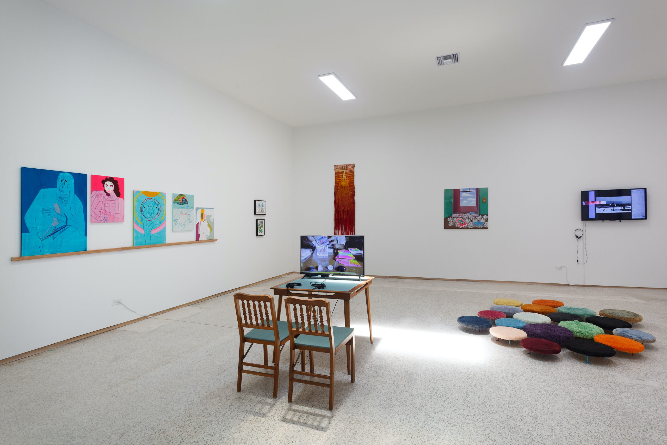 our constellations: astral embraces and tactual consciousness (Installation view l), 2021, Emerson Dorsch, Miami FL